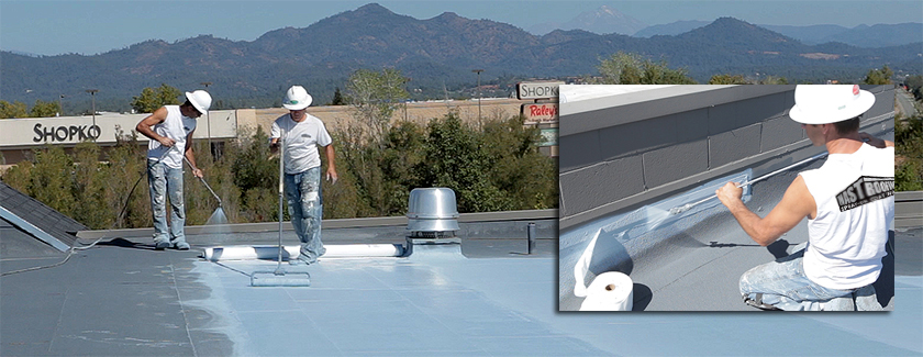 Embedding Fabric - Commercial Roof Restoration